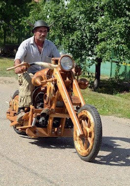 Лесной ресурс / Форум / Interesting facts and fun forest / Wooden motorcycles